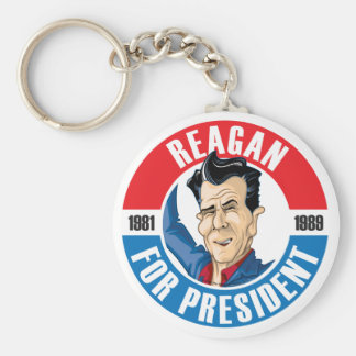 U.S. Presidentes Campaign Keychain #40 Reagan Llavero Personalizado