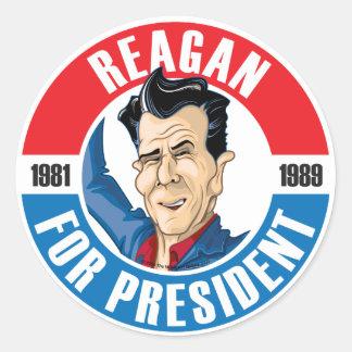 U.S. Presidentes Campaign Sticker: #40 Reagan Pegatinas Redondas