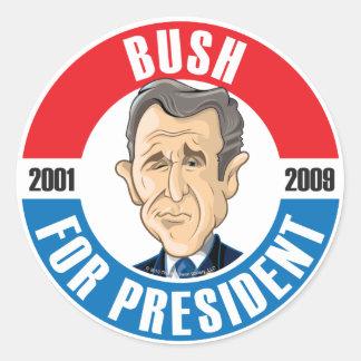 U.S. Presidentes Campaign Sticker: #43 George Bush Pegatina Redonda