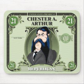 U.S. Presidentes Mousepad: #21 Chester A. Arthur Tapetes De Ratones