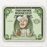 U.S. Presidentes Mousepad: #26 Theodore Roosevelt Tapete De Ratones