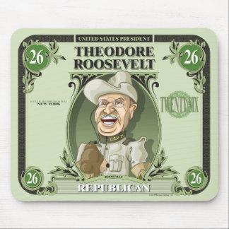 U.S. Presidentes Mousepad: #26 Theodore Roosevelt Tapetes De Raton