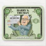 U.S. Presidentes Mousepad: #33 Harry S. Truman Tapete De Ratón