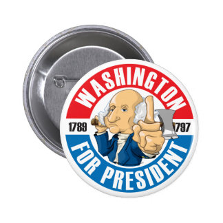 U.S. Presidents Campaign Button: #1 Washington 2 Inch Round Button