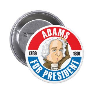 U.S. Presidents Campaign Button: #2 John Adams 2 Inch Round Button