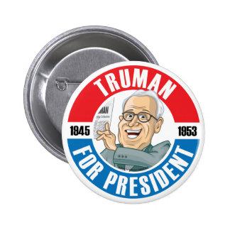 U.S. Presidents Campaign Button: #33 Harry Truman 2 Inch Round Button