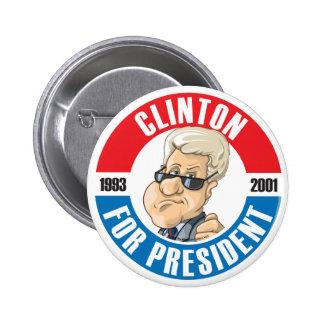 U.S. Presidents Campaign Button: #42 Bill Clinton 2 Inch Round Button