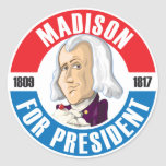 U.S. Presidents Campaign Button: #4 James Madison Stickers