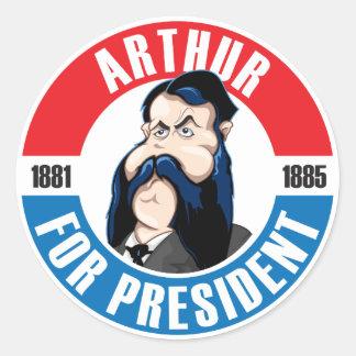 U.S. Presidents Campaign Sticker: #21 Arthur Classic Round Sticker