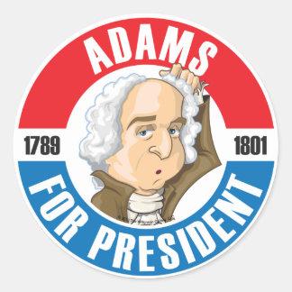 U.S. Presidents Campaign Sticker: #2 John Adams