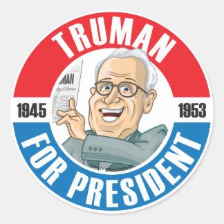 U.S. Presidents Campaign Sticker: #33 Harry Truman Classic Round Sticker
