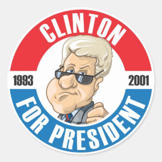 U.S. Presidents Campaign Sticker: #42 Bill Clinton Classic Round Sticker