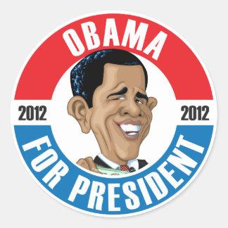 U.S. Presidents Campaign Sticker: #44 Barack Obama Classic Round Sticker