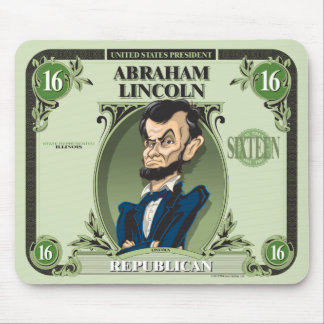 U.S. Presidents Mousepad: #16 Abraham Lincoln Mouse Pad