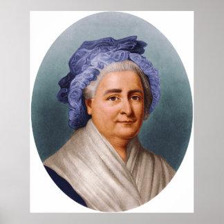 U.S. Primera señora Martha Dandridge Custis Washin Poster
