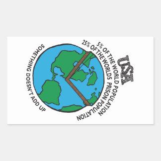U S Prison Stats Rectangular Sticker