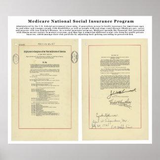 U.S. Programa nacional del seguro social de Seguro Póster