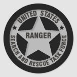 U.S. Ranger Search and Rescue Task Force Classic Round Sticker