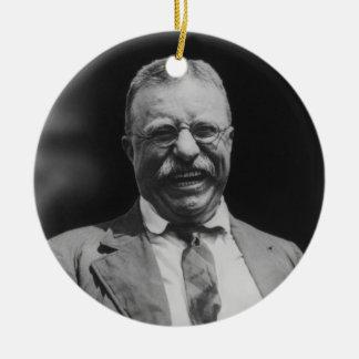 U.S. Risa de presidente Theodore Teddy Roosevelt Adorno Navideño Redondo De Cerámica