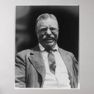 U.S. Risa de presidente Theodore Teddy Roosevelt Póster