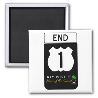 U.S. Route 1 Road Sign 2 Inch Square Magnet