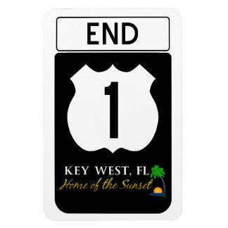 U.S. Route 1 Road Sign Rectangular Photo Magnet