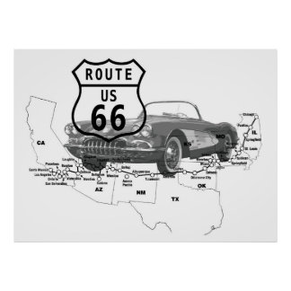 U.S. ROUTE 66 POSTER