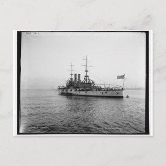 U.S.S. Alabama Battleship c1902 Vintage postcard