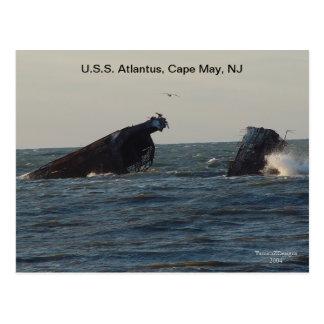 U.S.S. Atlantus Ship, New Jersey Postcard
