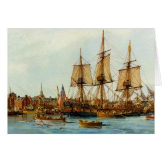 U.S.S. Barco de la Armada de Alfred de Nowland Van Tarjeta De Felicitación