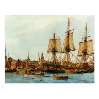 U.S.S. Barco de la Armada de Alfred de Nowland Van Tarjetas Postales