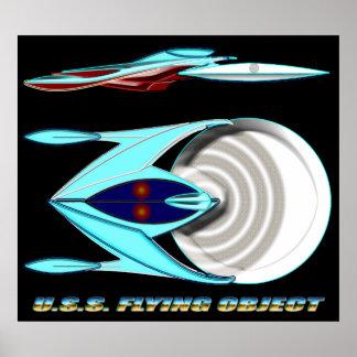 U.S.S. FLYING OBJECT_MCC-1947_UFO Class Poster