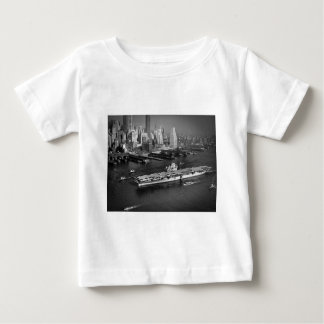 U.S.S. Hornet Sails Down East River New York City Baby T-Shirt