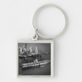 U.S.S. Hornet Sails Down East River New York City Key Chain