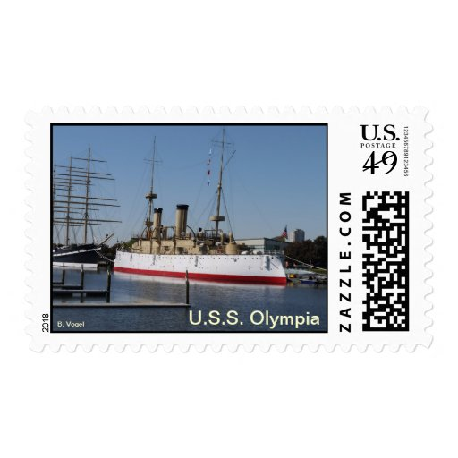U.S.S. Olympia Protected Cruiser Postage Stamp