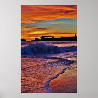 U.S.S. Palo Alto Sunset. Poster