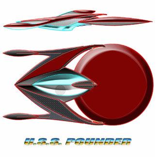 U.S.S. POUNDER_MCC-1777-E_Slinger Class Photo Sculpture Magnet