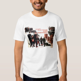 U.S.S.R. citizen propaganda poster t-shirt male