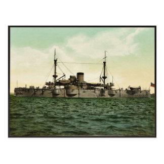 """U.S.S. """"Texas"""" classic Photochrom Postcard"""