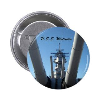 U.S.S. WIsconsin Button