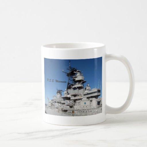 U.S.S. Wisconsin Classic White Coffee Mug