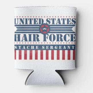 U.S. Sargento de Stache de la fuerza del pelo Enfriador De Latas
