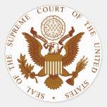 U.S. Sello del Tribunal Supremo Etiquetas Redondas