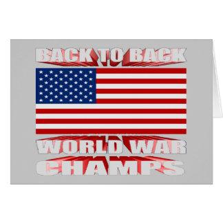U.S. Señale por medio de una bandera de nuevo a Tarjeta De Felicitación