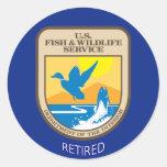 U.S. Servicio de los pescados y de la fauna Etiquetas Redondas