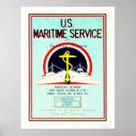 U.S. Servicio marítimo (US02055) Poster