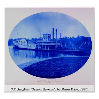 "U.S. Snagboat ""general Barnard"" 1885 Impresiones"