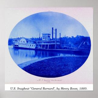 """U.S. Snagboat """"general Barnard"""" 1885 Póster"""