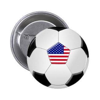 U.S Soccer Ball Pinback Button