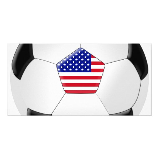 U.S Soccer Ball Photo Card